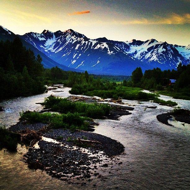 Girdwood, Alaska... photo taken at midnight on June 26th, 2012...Looks like another afternoon!