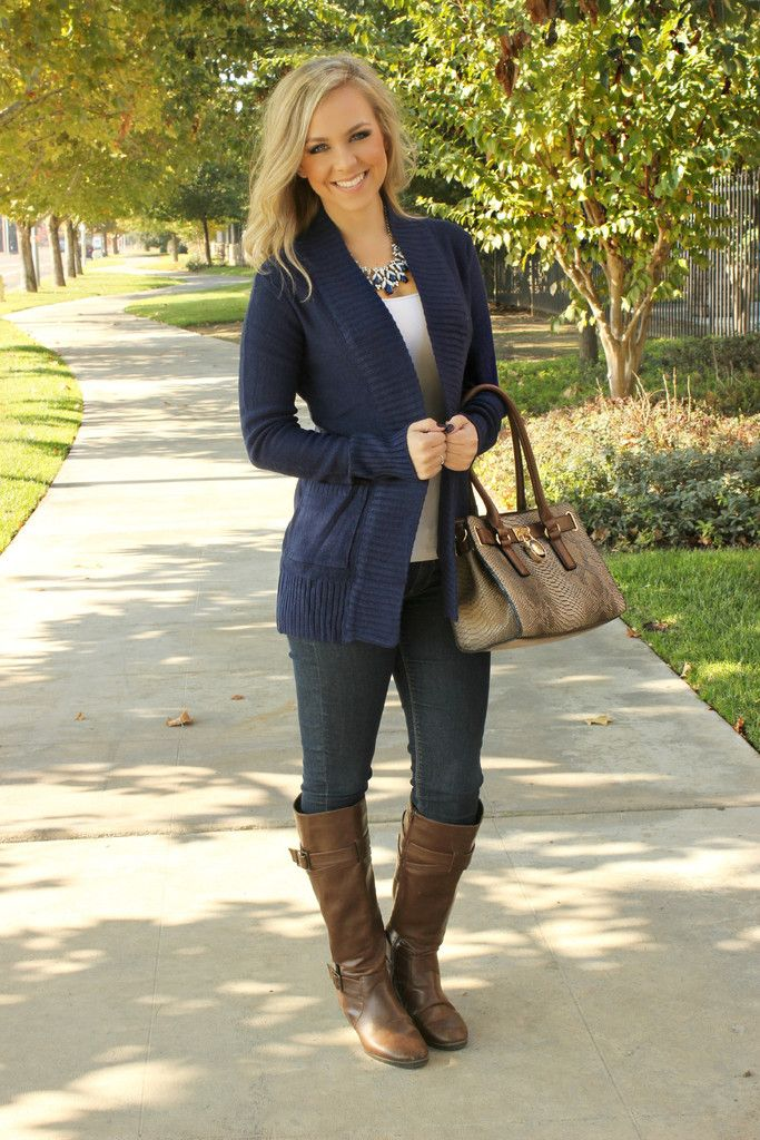 Now & Then Cardigan- Navy