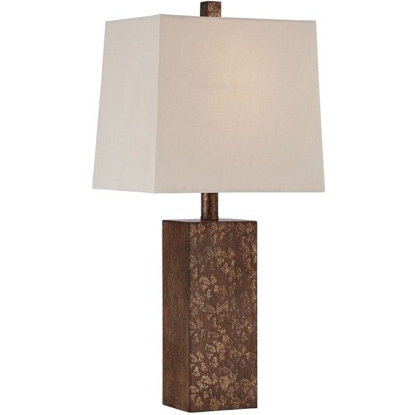 Universal Lighting and Decor Darryl Antique Gold Rectangular Table... (75 SAR) ❤ liked on Polyvore featuring home, lighting, table lamps, brown, rectangle lamp, rectangle lighting, brown table lamps, brown lamps and light bulb lamp