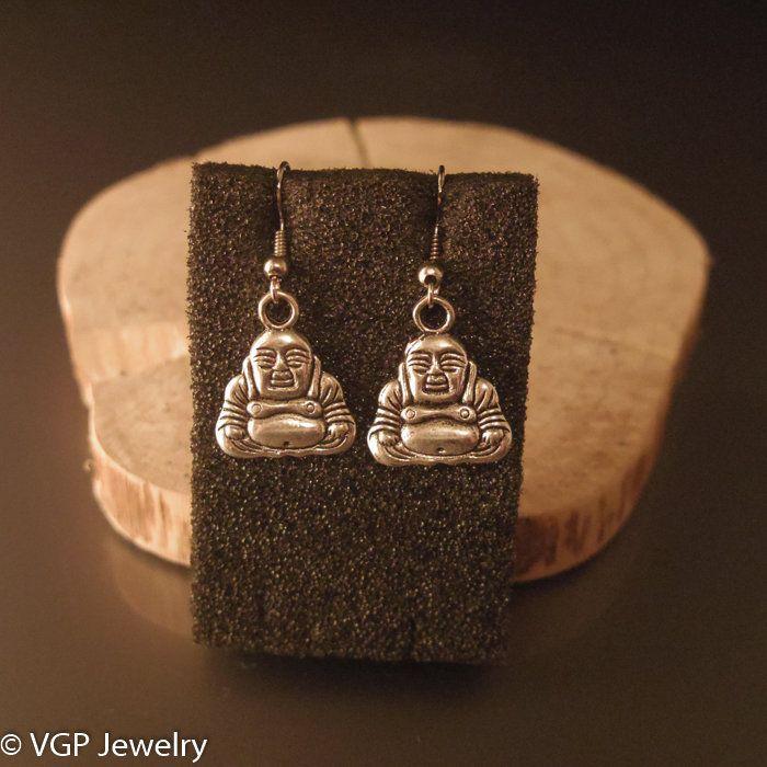 Kleine Boeddha Oorbellen: zilver