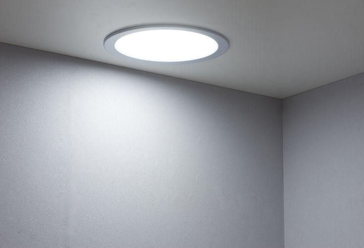 Propuesta iluminación cocina - Foco downlight led redondo de 10 W con luz fría, diámetro 200mm