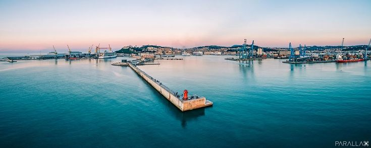 Lanterna Rossa di Ancona (by Parallax Drone Views)
