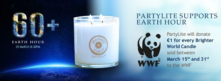 PartyLite donerar 1 EUR till WWF från varje såld Brighter World produkt under perioden 15-31 mars 2014. www.partylite.se
