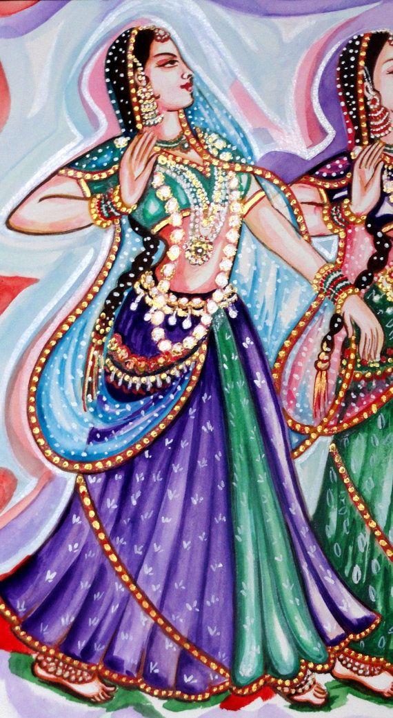Dancers Kathak Dance Classical Indian Dance Water by sadashivarts