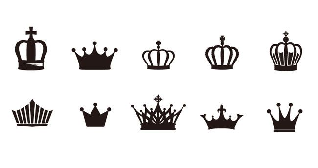 Crowns Vector - Free Vector Site | Download Free Vector Art, Graphics