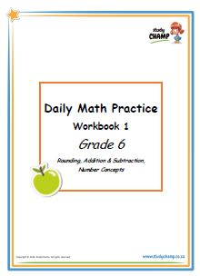 Grade 6 : Grade 6 Daily Math Practice: Workbook 1