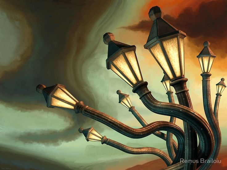 """""""Drunk Streetlamps"""" Photographic Prints by Remus Brailoiu   http://www.redbubble.com/people/remuscb/works/9961847-drunk-streetlamps?asc=u   #surreal #surrealism #gothic #gasslamp #lamppost #fantasy #dreamscape #gothicsurrealism"""