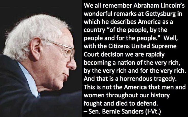 Bernie Sanders Gettysburg Address: American Politics, Politics View, Bernie Sander, Political Or Comment, Politics Liberalism, America Senat, Senat Bernie, Vote American, Bernie Quotes