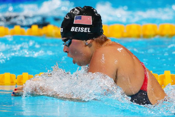 Elizabeth Beisel of the USA competes during the Swimming Women's 200m Individual Medley Semifinal 1 on day nine of the 15th FINA World Championships at Palau Sant Jordi on July 28, 2013 in Barcelona, Spain.