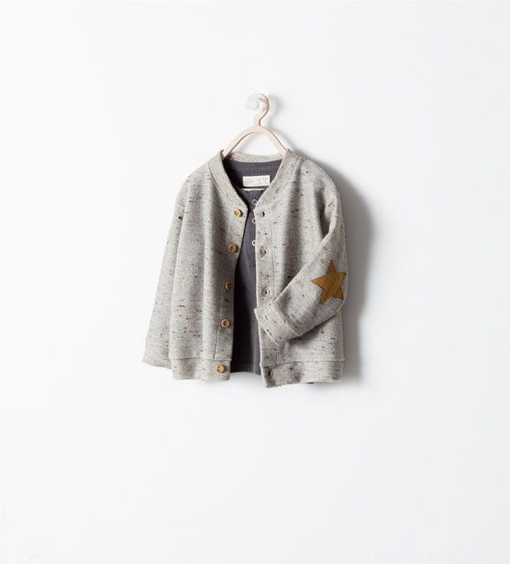 STAR JACKET WITH ELBOW PATCHES from Zara