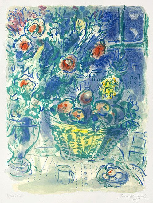"Marc Chagall (1887-1985), ""Basket of Fruit and Pineapples"""