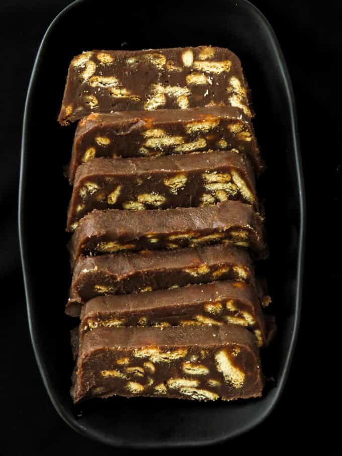No Bake Chocolate Buiscuit Cake With Condensed Milk Island Smile In 2020 Milk Recipes Dessert Baking Condensed Milk Cake