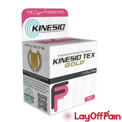 "Fabrication Enterprises - 24-4872-6 - Kinesio Tape, Tex Gold FP, 2"" x 5.5 yds, Red, 6 Rolls"