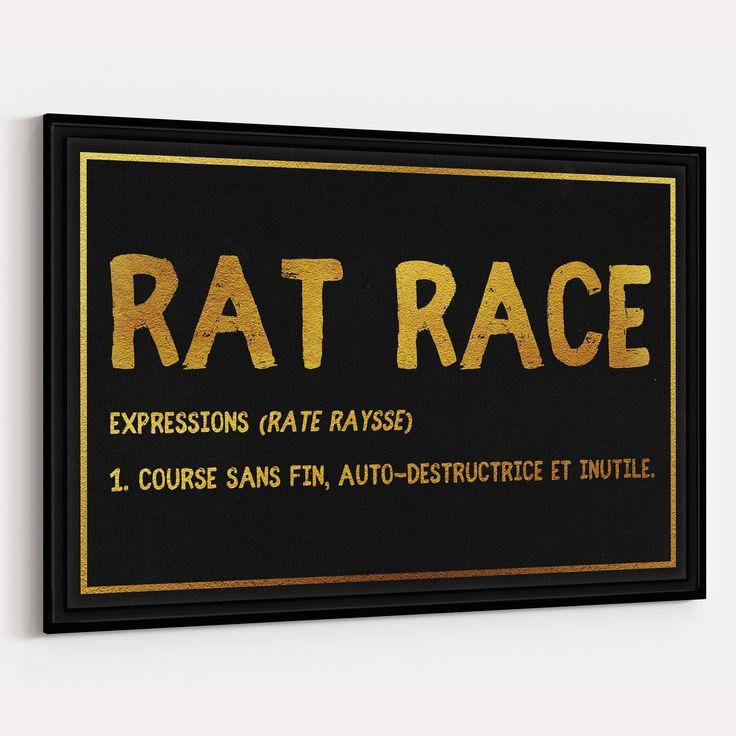 Rat Race - Design Canvas Course sans fin, atuto-destructrice et inutile.  Freedom goal  ART Design Canvas Motivational motivated WAM