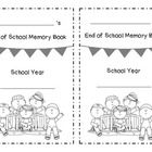 End of the school year memory book activity for K or 1st graders. Print, cut in half, then staple each booklet.  Enjoy and have a fantastic summer!...