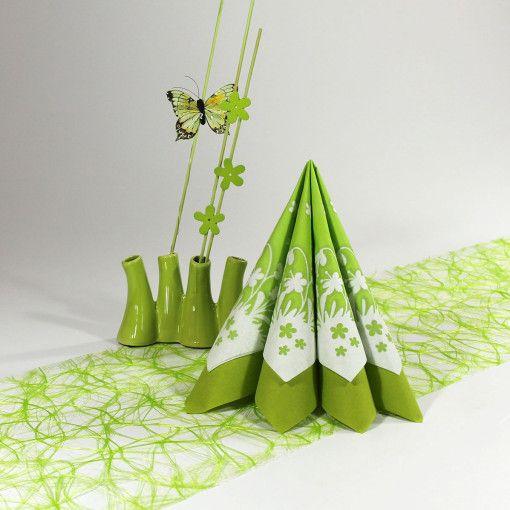 inspiration – papirklip grøn. Du kan selv genskabe denne borddækning her: www.mystone.dk