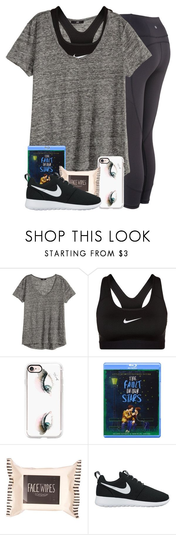 """life's confusing"" by simplesouthernlife01 ❤ liked on Polyvore featuring H&M, NIKE, Casetify and Topshop"