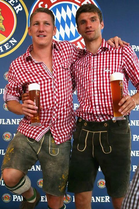 Bayern Munich FC (und lederhosen!) crying with amount of german-ness that is going on right now
