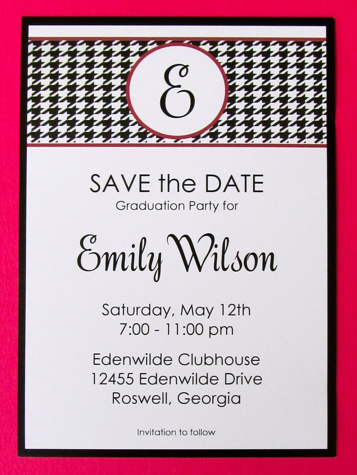 24 best Save the Dates images – Save the Date Graduation Invitations