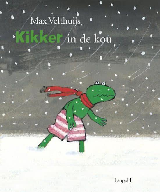 kikker in de kou bij het thema winter