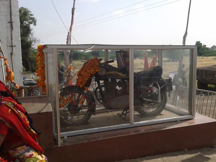 A Royal Enfield Bullet Motorcycle is Worshipped in India