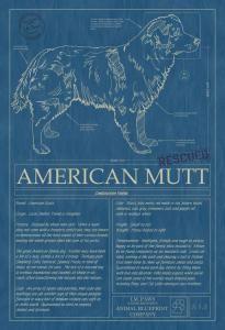 131 best dog blueprints images on pinterest dog art american and animal blueprint company american mutt 01 dog print malvernweather Gallery