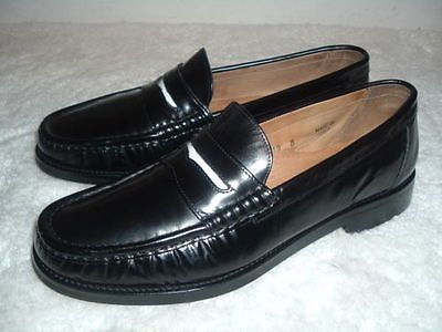 Joseph Abboud Strap Black Leather Loafers Fashion Footwear Mens Used Shoes 10 M