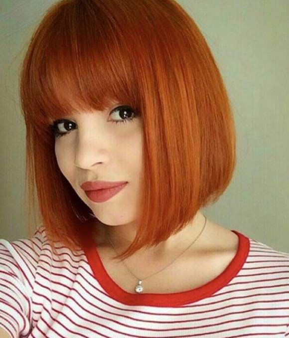 bob haircut with bang 25 best ideas about orange brown hair on 2680 | d22c2aca95f0322909bb2c0f803d649c
