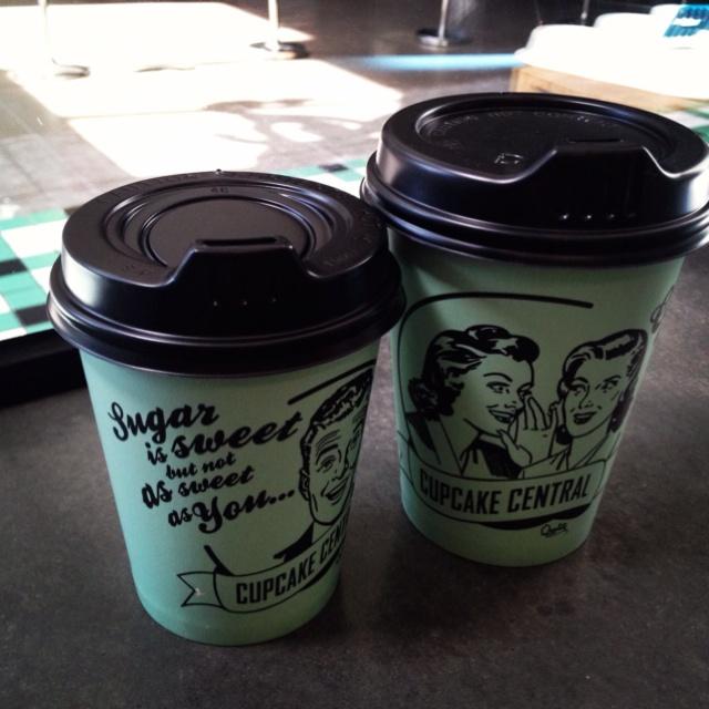 Custom Takeaway Coffee Cups In SMEG Green (