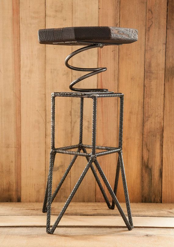 Rebar Spring Stool. I'm wondering just how comfortable this might be? Too wiggly? Cute though!