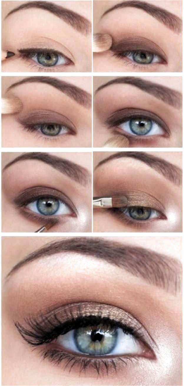 Eye Makeup Tutorial Step By Step Smokey In 2020 Natural Eye Makeup Natural Eye Makeup Tutorial Wedding Makeup For Blue Eyes