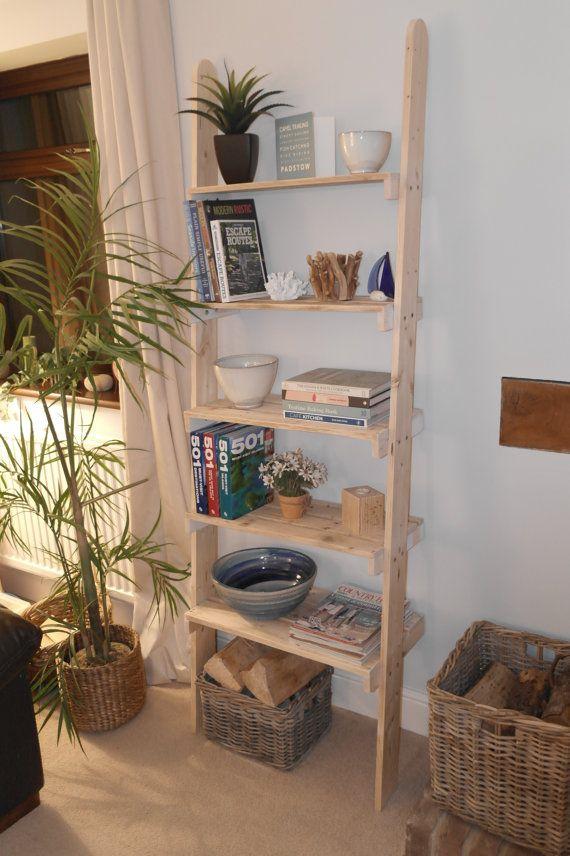 Ladder Shelf Unit Recycled Pallet Shelves by coastNbeach on Etsy
