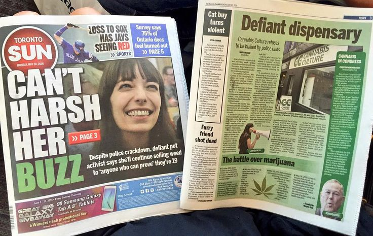 I'm on the cover and page 3 of the Toronto Sun newspaper today about our @CannabisCulture franchise cannabis shop opening at 801 Queen Street West in Toronto. My message is very clear in this article. Legalization means fair equal access to cannabis for all Canadians healthy or sick. We refuse to discriminate or force people to be sick before being given the right to access cannabis. Legalization means recreational or social use is allowed for all adults - and they will need to be able to…