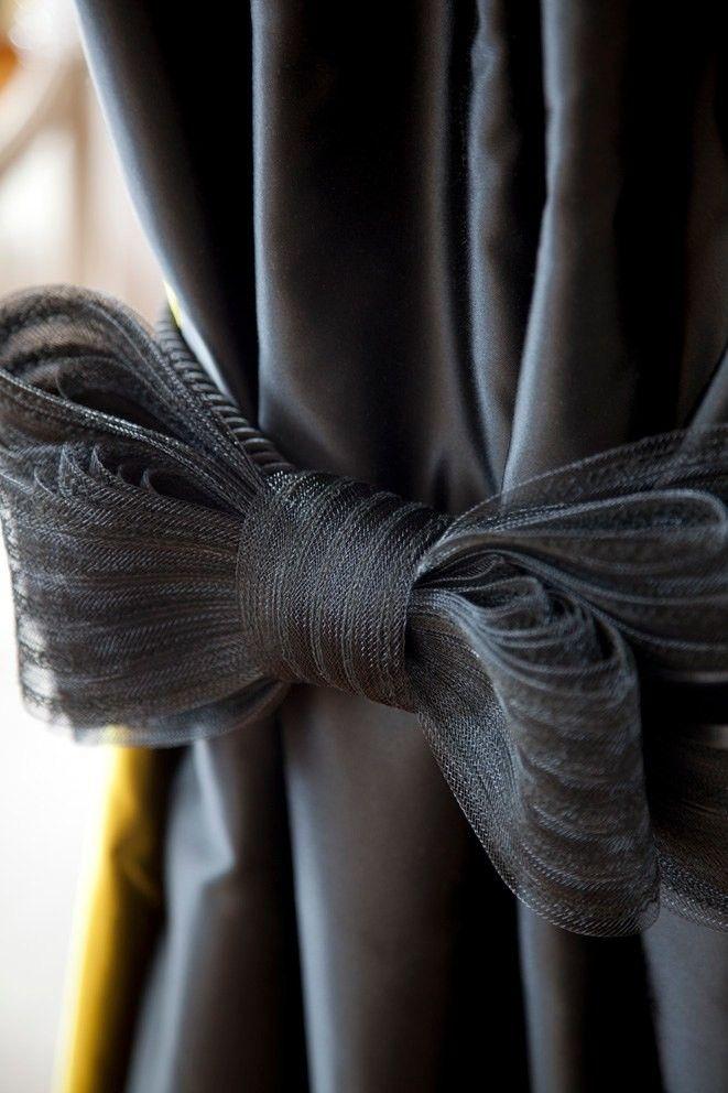 Bow curtain tie backs