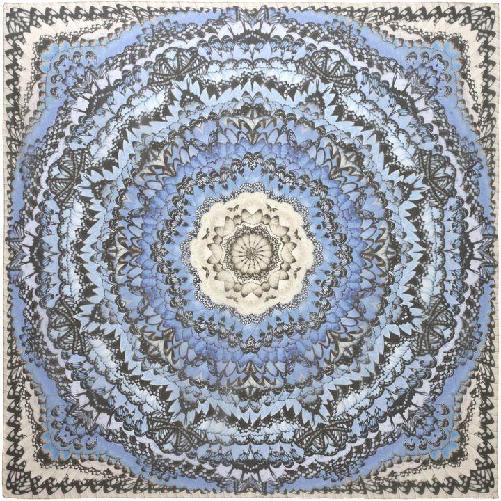 Schal mit Regenbogenflügel-Print