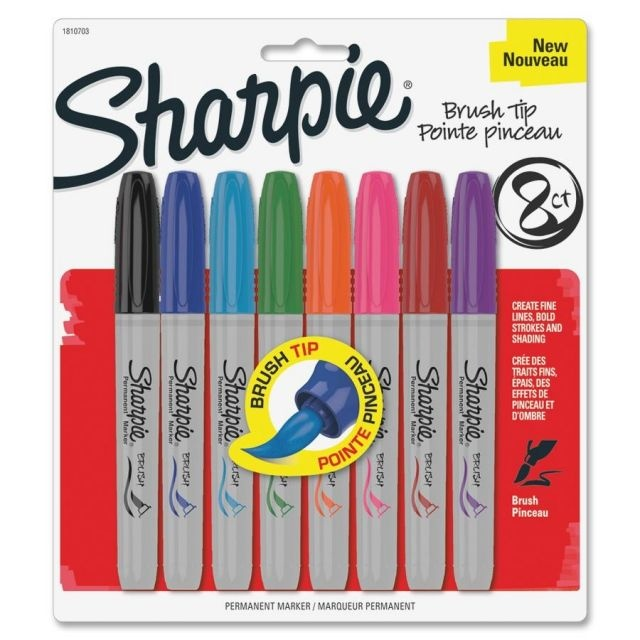 Create a work of art using these markers with brightly colored, fade-resistant and water-resistant ink. Sharpie Brush Tip Permanent Markers
