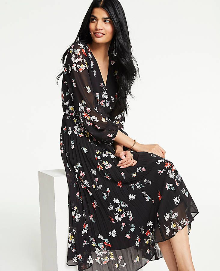 e0f42e8481 Shop Ann Taylor for effortless style and everyday elegance. Our Meadow  Floral Pleated Wrap Dress is the perfect piece to add to your closet.