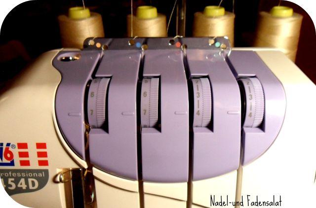 Kräuseln mit der Overlock? Ein kleines Tutorial für die W6 454D - Nadel-und Fadensalat