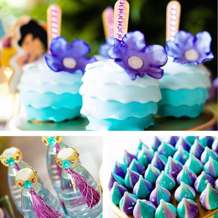 Cake Pops + Drink + Meringues from a Princess Jasmine Birthday Party via Kara's Party Ideas KarasPartyIdeas.com (7)