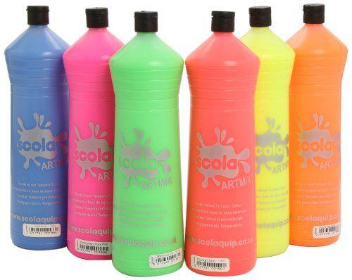 Siempre las cosas más últiles para tu hogar: Scola Artmix - Pintura fluorescente (6 botes de 600 ml) Más en  http://todohogarweb.es/wordpress/producto/scola-artmix-pintura-fluorescente-6-botes-de-600-ml/