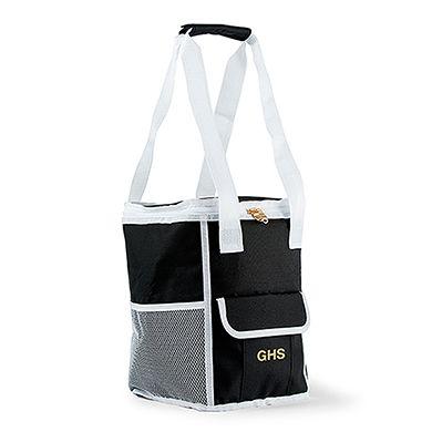 On-The-Go Cooler Bag - Black and White Stripes