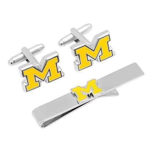 Men's Cufflinks Inc University of Michigan Cufflinks and Tie Bar Set