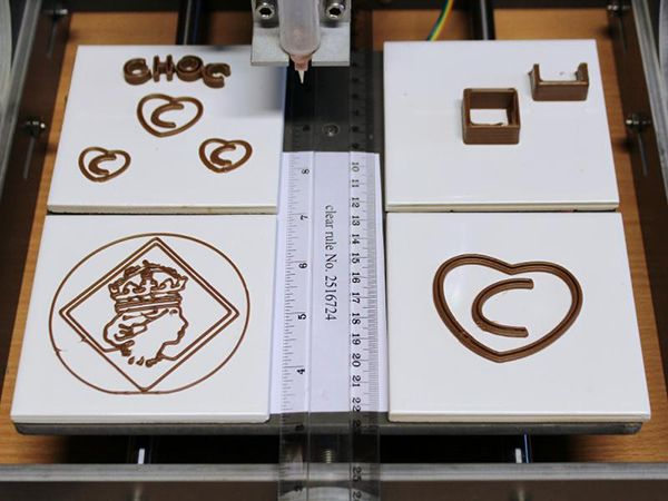 Chocolate as a printing material? Yes please!   Choc Creator Chocolate Printer