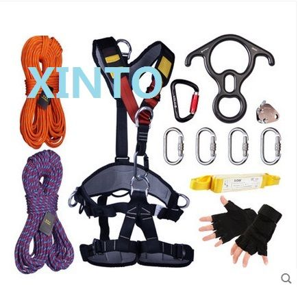 50M 2600KG aerial work fast safety insurance working static rope sport harness,outdoor glass clean outer wall lifting sling
