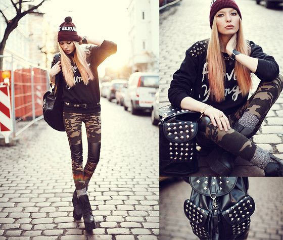 Forever Young! (by Lina ♡) http://lookbook.nu/look/4776531-Jutebeutel-Sweater-Modekungen-Backpack-Shoptimeless