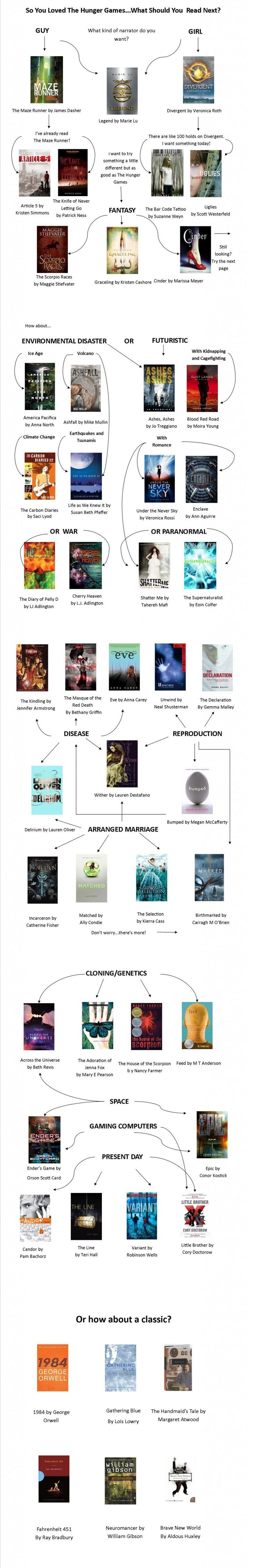 So you liked the Hunger Games books. What should you read next?: