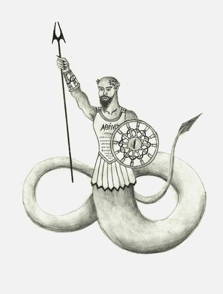 Cecrops- Greek myth: a half man half snake king of Athens ... - photo#22