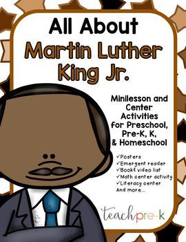 All About Martin Luther King Jr. for Preschool, PreK, K &