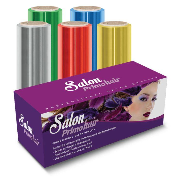 """Αλουμινοχαρτο Κομμωτηριου """"Salon Primo Hair"""" απο ειδικο υλικο για κομμωτηρια διαστάσεων 50m μηκος x 12,5cm πλατος και πάχος 14/15my, σε διάφορα χρώματα"""