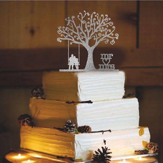 Gâteau rustique Topper monogramme personnalisé par CAKETOPPERHOUSE